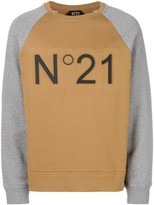 No.21 branded raglan sweatshirt