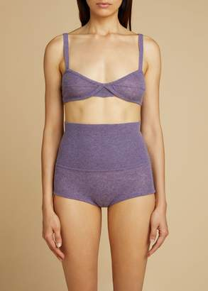 KHAITE The Eda Bralette in Amethyst