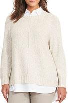 Lauren Ralph Lauren Plus Layered Marled Sweater