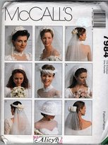 Mccall's 7984 Sewing Pattern Alicyn Bridal Veils by