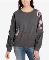 Vintage America Ruffled Embroidered Sweatshirt