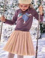 Boden Glitter Ruffle Skirt