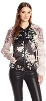 GUESS Women's Long Sleeve Luba Bomber Jacket
