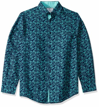 Azaro Uomo Men's Long Sleeve Colorful Dress Shirt Slim Casual Button Down