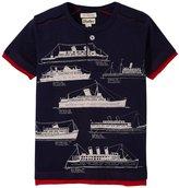 Hatley Nautical Ocean Liner Henley (Toddler/Kid) - Blue - 3T