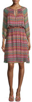 Diane von Furstenberg Parry Printed Silk Blouson Dress, Coromandel
