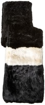 Kate Spade Faux Rabbit Fur Stole
