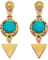 Fiorelli Fiorelli...Statement Gold & Turquoise Marble Effect Dangle Earrings...Drop: 4cm