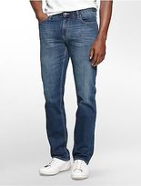 Calvin Klein Mens Slim Straight Leg Authentic Blue Wash Jeans