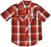 JCPenney Chalc Short-Sleeve Button-Front Plaid Poplin Shirt - Boys
