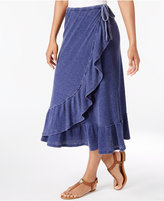 G.h. Bass & Co. Faded Ruffled Wrap Skirt
