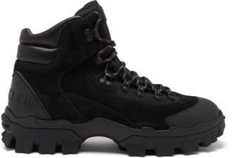 Moncler Herlot Lace-up Suede Boots - Black