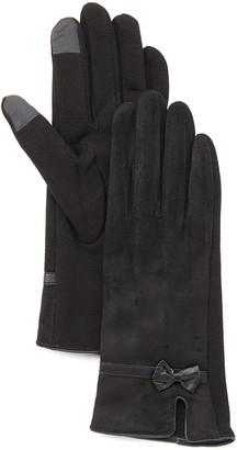 Jeanne Simmons Accessories Women's Casual Gloves Black - Black Split Touchscreen Gloves - Women