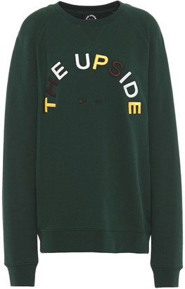 The Upside Embroidered French Cotton-terry Sweatshirt