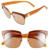 MCM Women's 'Visetos' 56Mm Retro Sunglasses - Matt Cognac/ Brown Visetos