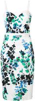 Black Halo floral print dress - women - Cotton/Polyamide/Spandex/Elastane - 0