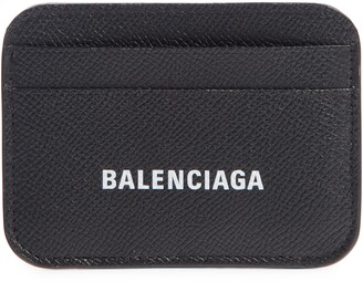 Balenciaga Cash Calfskin Leather Card Holder