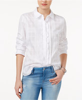 Tommy Hilfiger Plaid Ruffled Shirt, Only at Macy's