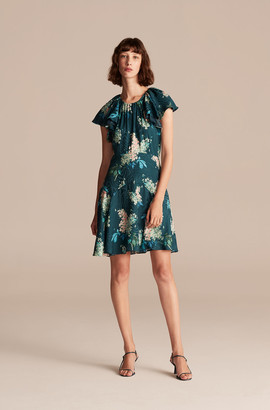 Rebecca Taylor Hydrangea Floral Short Dress