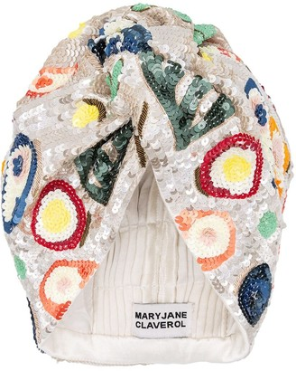 MaryJane Claverol Hawaii Sequined Turban