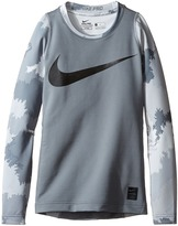 Nike Hyperwarm Long Sleeve AOP Crew Top (Little Kids/Big Kids)