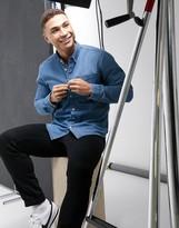 Esprit denim shirt in mid blue
