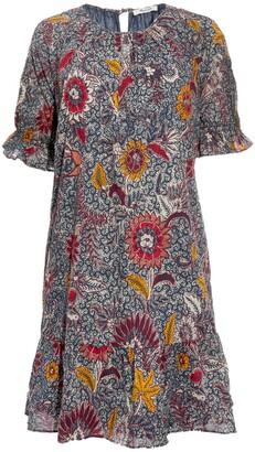 Madewell Ruffle Sleeve Popover Minidress