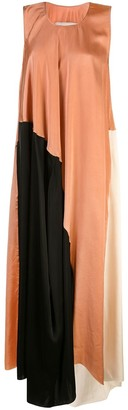 UMA WANG Colour Block Maxi Dress