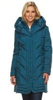 Gallery Women's Hooded Iridescent Down Puffer Jacket