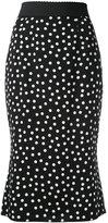 Dolce & Gabbana polka dot skirt - women - Silk/Spandex/Elastane - 46