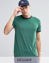 Fila Vintage Ringer T-shirt With Small Logo