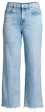 J Brand Women's Joan High-Rise Cropped Raw Jeans