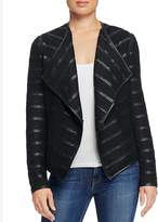 Bagatelle Faux Leather Trimmed Pleat Jacket