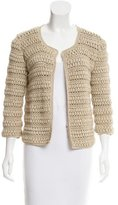 Malo Crocheted Knit Cardigan