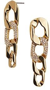 BaubleBar Michel Pave Detail Chain Link Drop Earrings