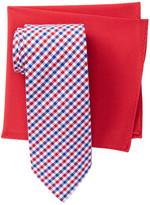 Alara Beacon Check Tie & Pocket Square Box Set