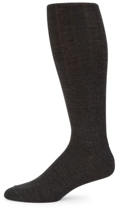 Saks Fifth Avenue COLLECTION Wide Rib-Knit Crew Socks