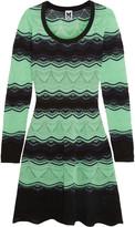 M Missoni Striped crochet-knit cotton-blend dress