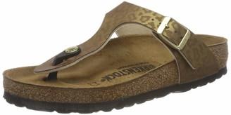 Birkenstock Tongs Gizeh Birko-flor Leopard Gold Womens Sandal