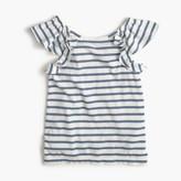 J.Crew Girls' ruffle tank top in stripes