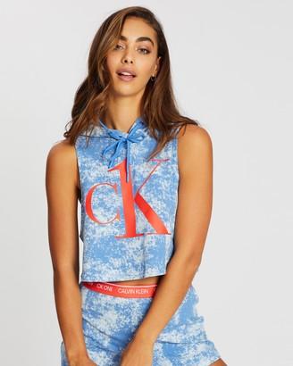 Calvin Klein Cropped Sleeveless Hoodie