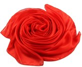 "Beauty II Silk Shawl Scarf for Wedding Bridal Evening Party Long (, 35.4""x70.8"")"