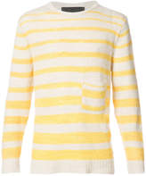 The Elder Statesman striped loose knit jumper