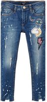 MANGO Girls Patched Painted Skinny Jeans