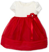 princess faith (Infant Girls) Two-Piece Shutter Pleat Dress & Bloomers Set