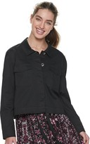 American Rag Juniors' Embroidered Cropped Jacket