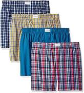 Tommy Hilfiger Men's Underwear 4 Pack Cotton Classics Woven Boxers, Multi
