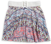 Ally B Girls 7-16 Girls Lace-Front Skirt