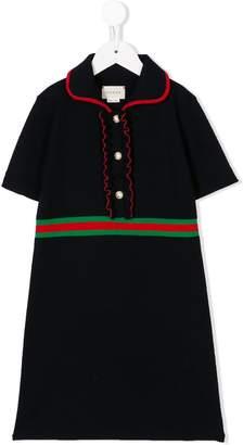 Gucci Kids Wool Dress With Lurex
