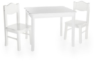 Guidecraft Classic Table and Chairs Set - White